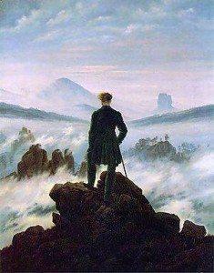 Caminante sobre el Caspar David Friedrich