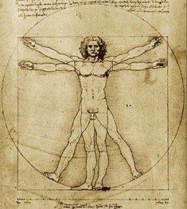 El hombre de Vitrubio, Leonardo Da Vinci