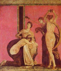 Fresco de La Villa de los misterios, siglo I a.C.