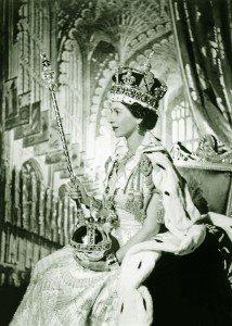 Coronación de Isabel II el 2 de junio de 1953 en la Abadía de Westminster, Londres, Inglaterra